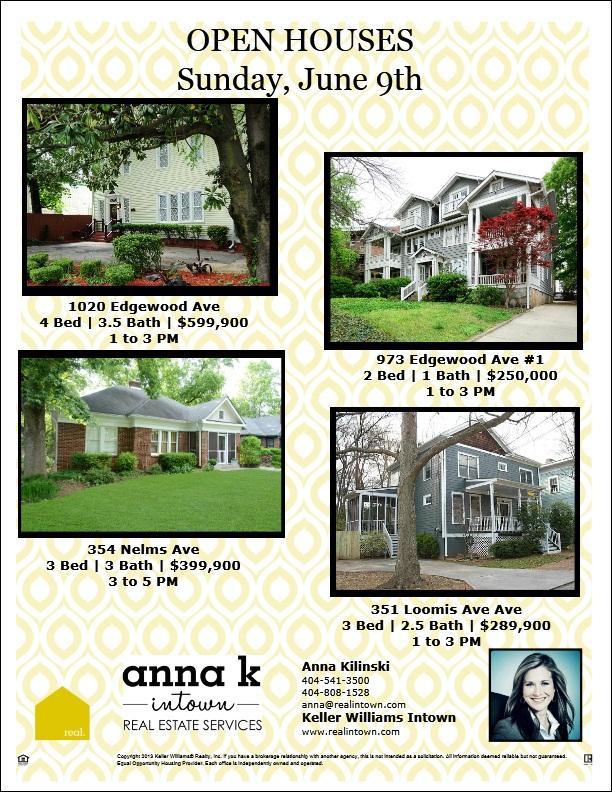 Anna K Intown Open Houses