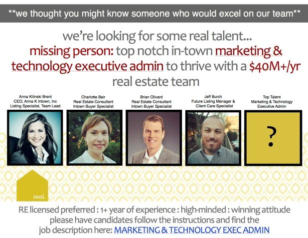 Graphic Exec Assistant we're hiring copy