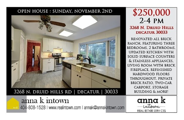 open house 3268 N Druid Hills