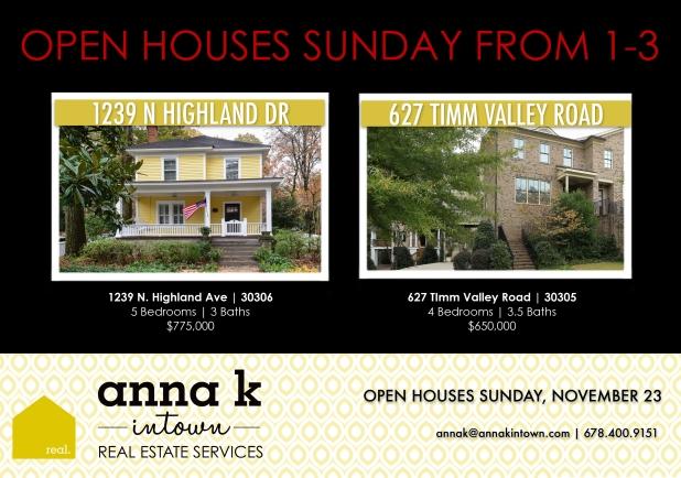 OPEN HOUSES 112314