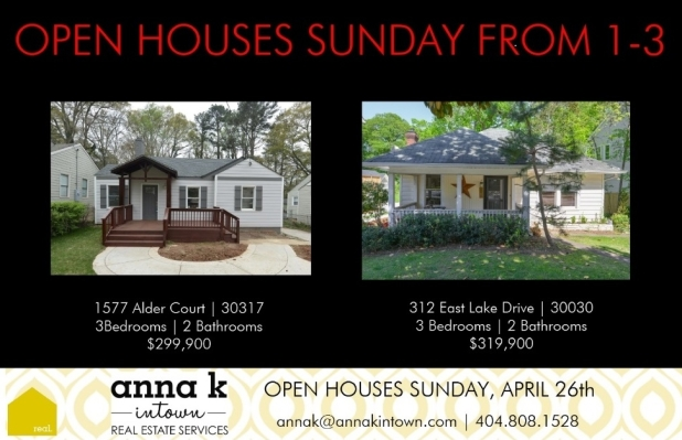 Open Houses Sunday from 1-3 in Oakhurst at 312 East Lake Ave and in Kirkwood at 1577 Alder Ct!